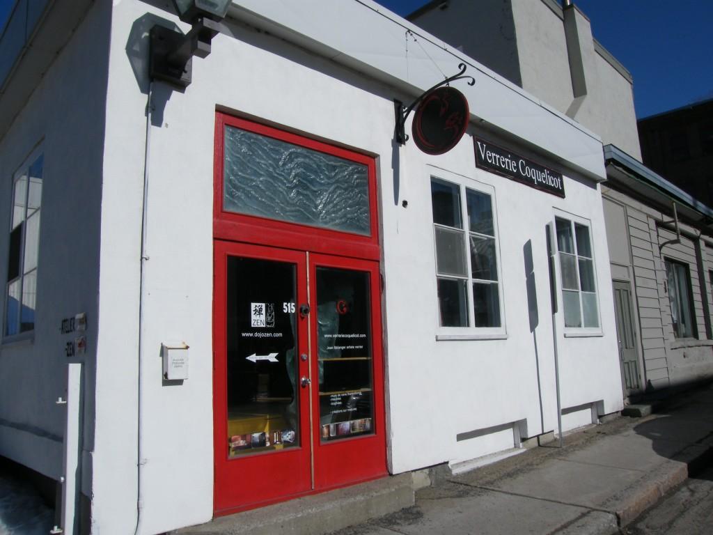 bâtiment atelier verrerie coquelicot