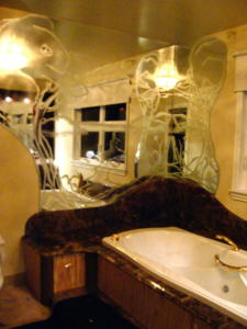 contour de bain en miroir