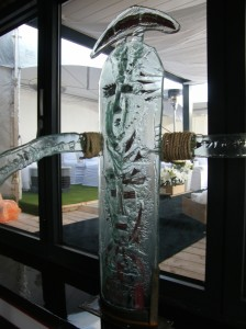 rampe d'escalier verre fusion
