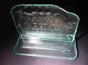 trophée verre fusion