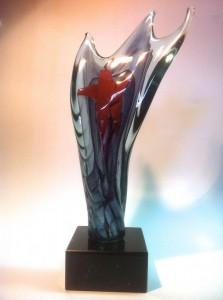 trophées verre soufflé