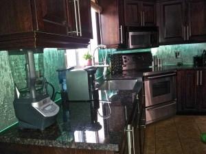 cuisine backsplash en verre