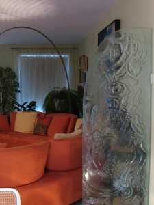 muret en verre fusion