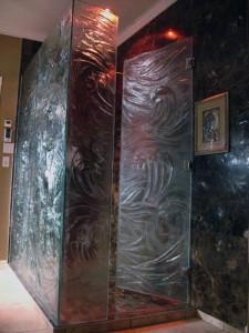 porte de douche verre fusion