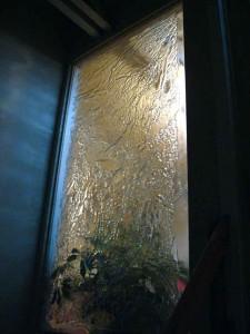 mur verre fusion