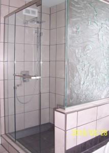 verre mur de douche