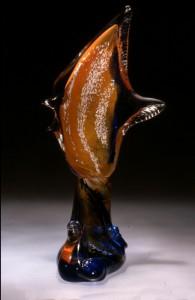 poisson sur vague