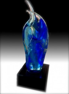 trophée sculpture verre