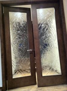 porte verre fusion entrée décorative