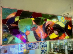 vitrail horizontale dessin abstrait