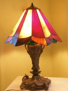 lampe en vitrail